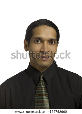 Portrait of a smiling businessman isolated in a white background