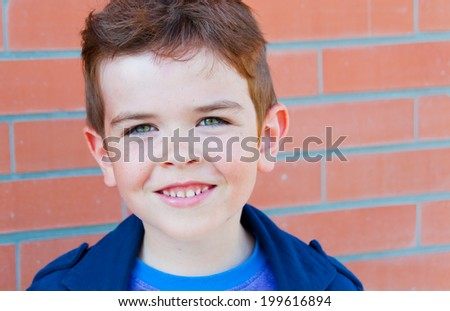 Portrait of a smiling child - stock photo