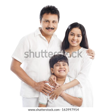 Portrait of a smiling family - stock photo
