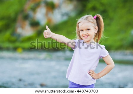 Portrait of a smiling girl, outdoor