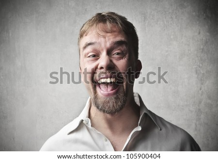 Portrait of a smiling man - stock photo