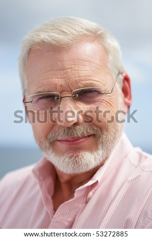 Portrait of a smiling senior man