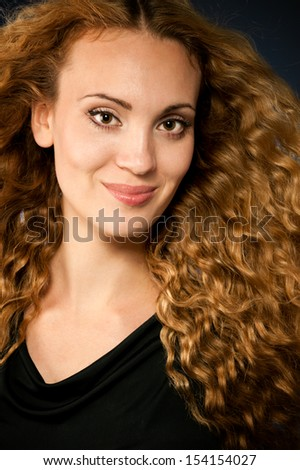 Portrait of a smiling woman with beauty