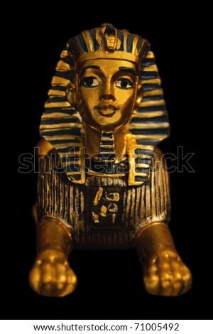 Portrait of a sphinx figure - stock photo