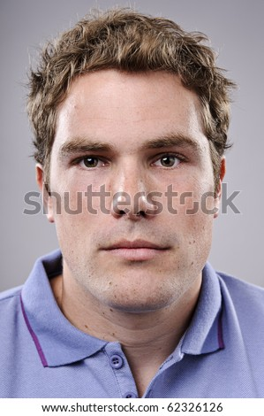 Portrait of a sporty young man - stock photo