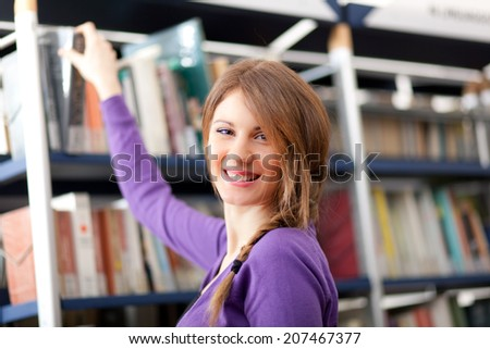 Portrait of a Student in a Library
