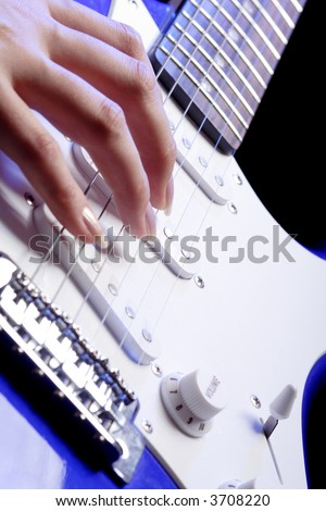 Portrait of a styled professional model. Theme: teens, music. - stock photo