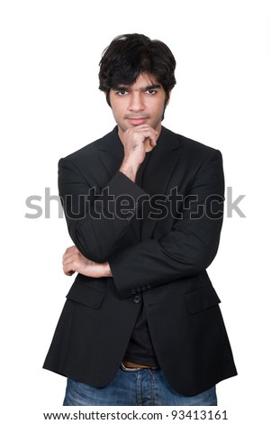 portrait of a stylish young Indian man