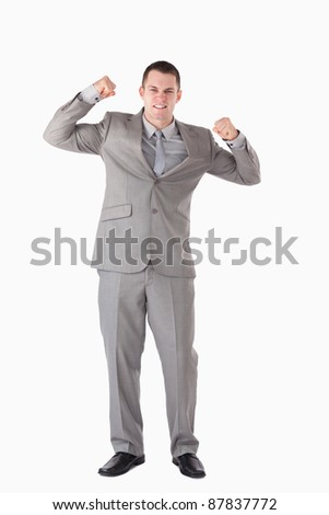 Portrait of a successful businessman against a white background