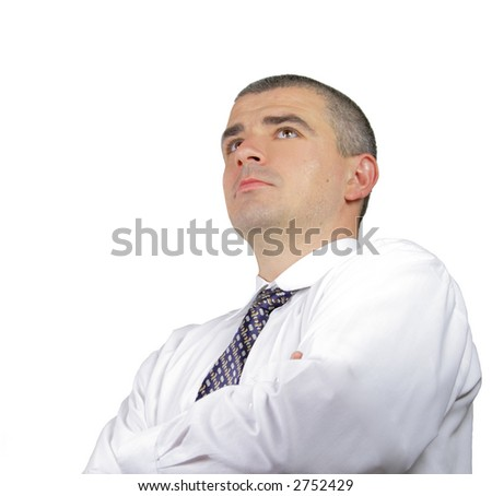 Portrait of a successful businessman isolated over white background.