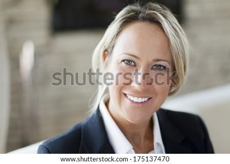 Portrait Of A Successful Businesswoman - stock photo