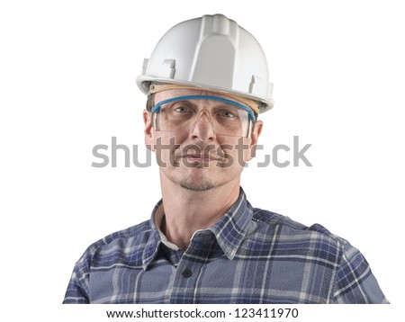 Portrait of a technician isolated - stock photo
