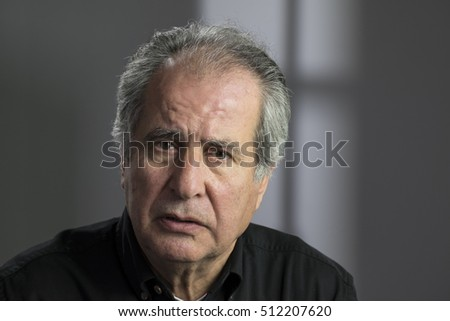 Portrait of a troubled senior aged man