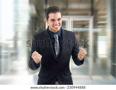 Portrait of a very happy businessman