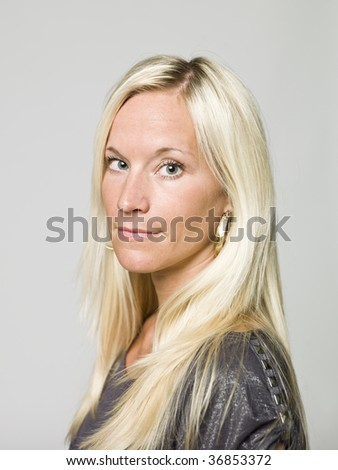 Portrait of a woman - stock photo