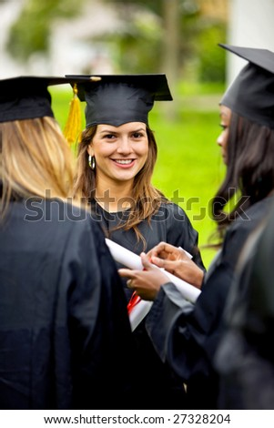 Portrait of a woman at her graduation