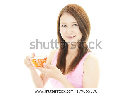 Portrait of a woman holding cup of tea
