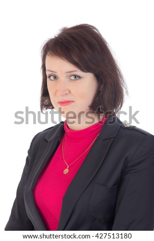 portrait of a woman in a suit - stock photo