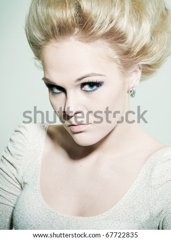 Portrait of a woman's fashion - stock photo