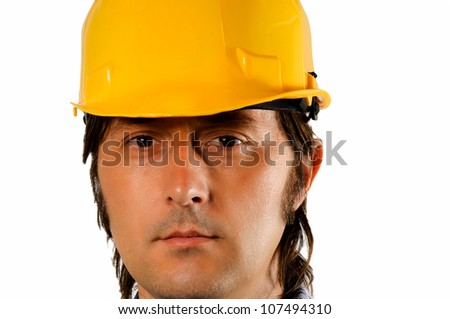 Portrait of a worker  isolated