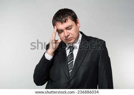 Portrait of a worried and stressed man - stock photo