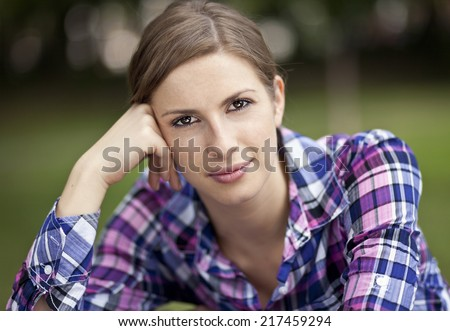 Portrait Of A Young Adult - stock photo