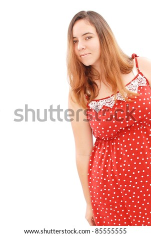 Portrait of a Young Adult Girl - stock photo