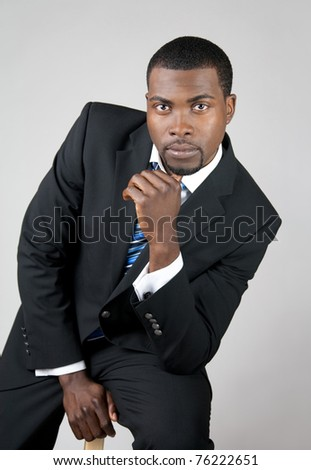 Portrait of a young African American business man.