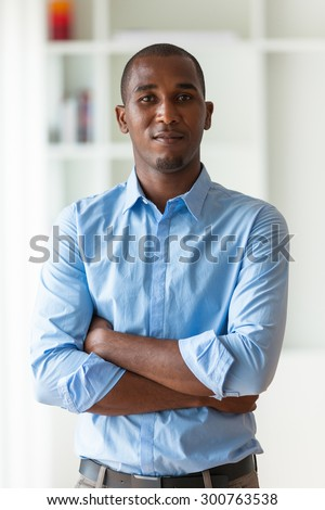 Portrait of a young African American business man - Black people - stock photo