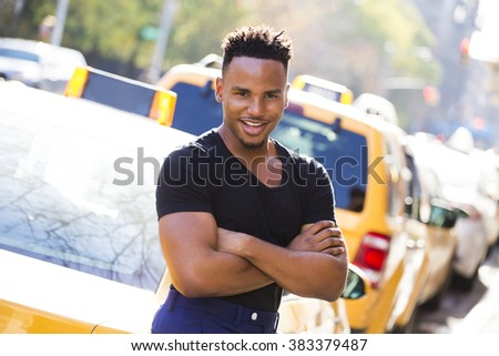 Portrait of a young afroamerican man in New York
