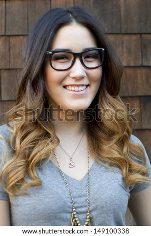 Portrait of a young, Asian-American woman. - stock photo