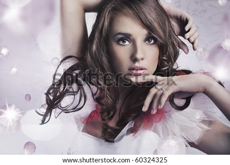 Portrait of a young beauty - stock photo