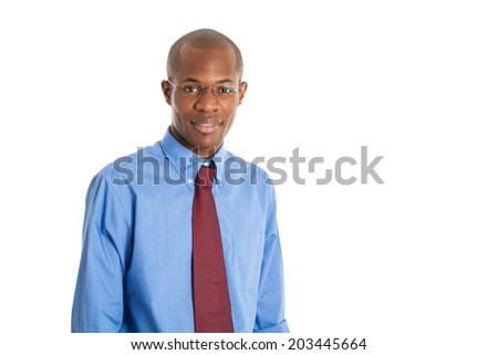 Portrait of a young black businessman - stock photo
