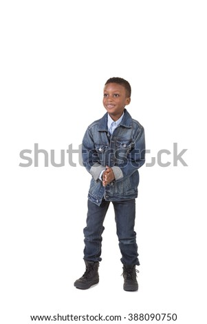 Portrait of a young boy isolated on white