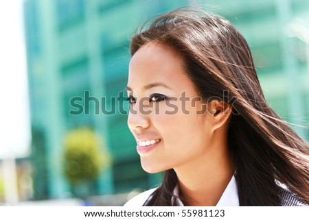 Portrait of a young business woman - stock photo