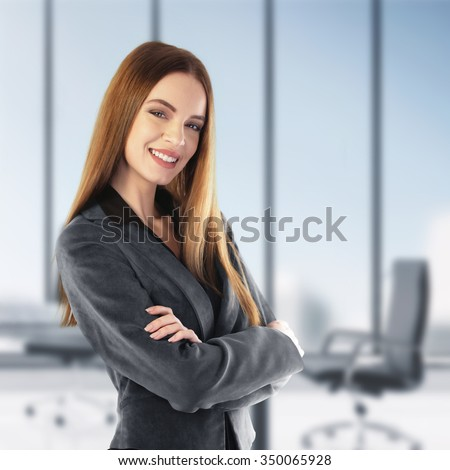 Portrait of a young business woman in her office