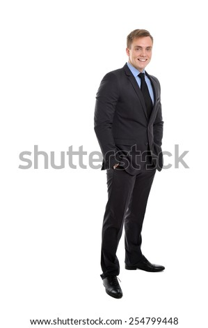 Portrait of a young, confident and attractive entrepreneur. - stock photo