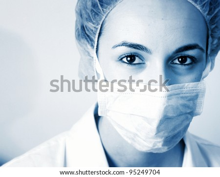 Portrait of a young doctor. More of this series on my portfolio ! - stock photo
