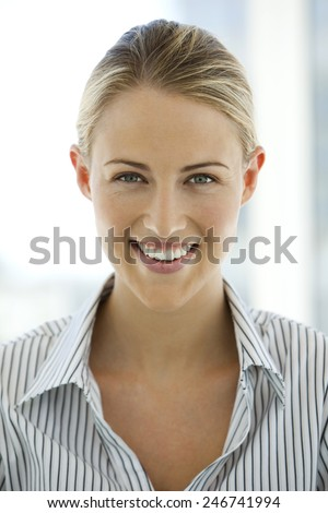 Portrait of a young female manager - stock photo