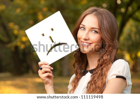 Portrait of a young girl who smiles - stock photo