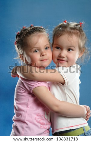 portrait of a young girl with beautiful hair - stock photo