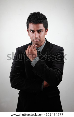 Portrait of a young Indian business executive
