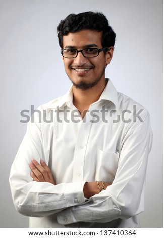 Portrait of a young Indian male - stock photo