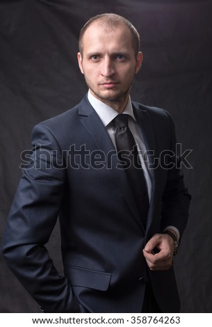 Portrait of a young man in a tie
