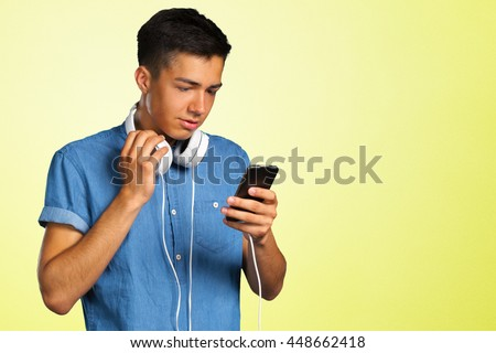 portrait of a young man with headphones