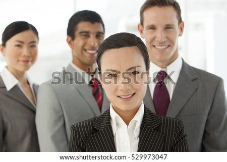 Portrait of a young multi ethnic business team