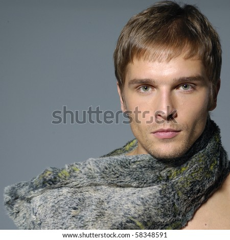 Portrait of a young professional model - stock photo