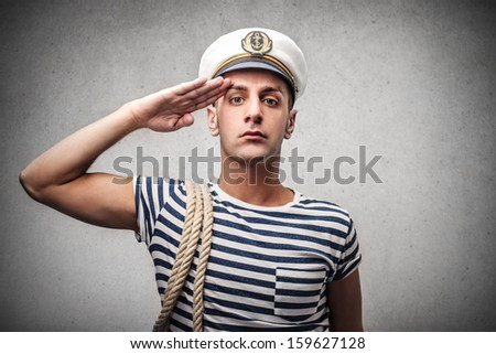 portrait of a young sailor - stock photo