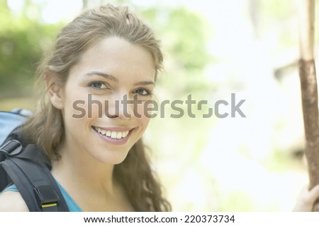 Portrait of a young woman smiling