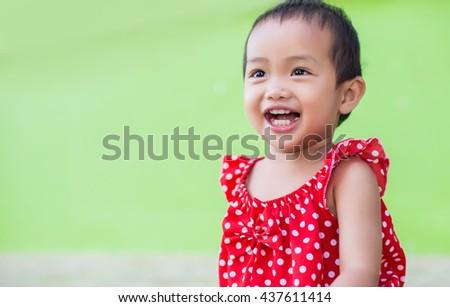 Portrait of adorable little girl - stock photo